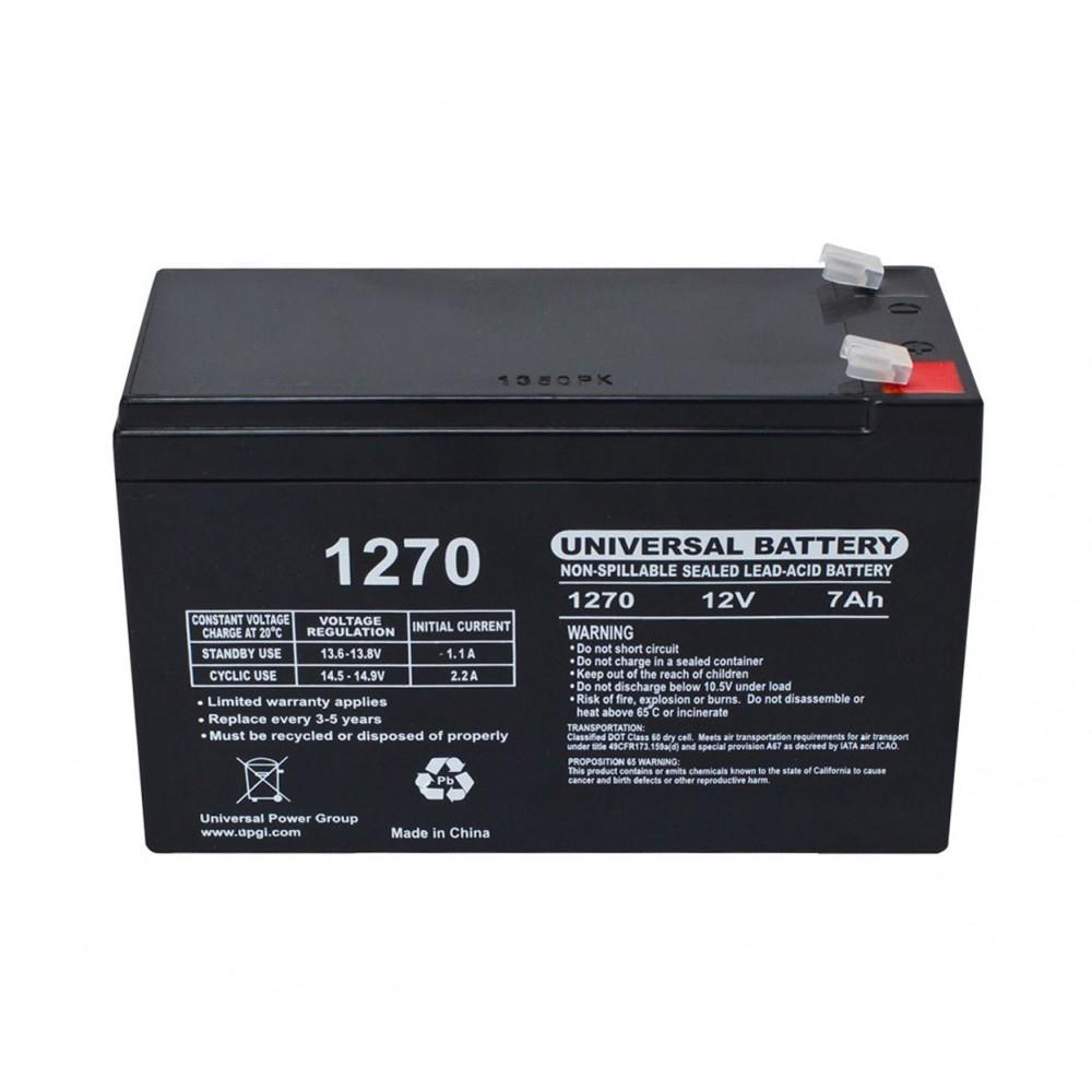 Batteria al piombo 7Ah per auto elettriche e scooter codice 12N7AH 12v