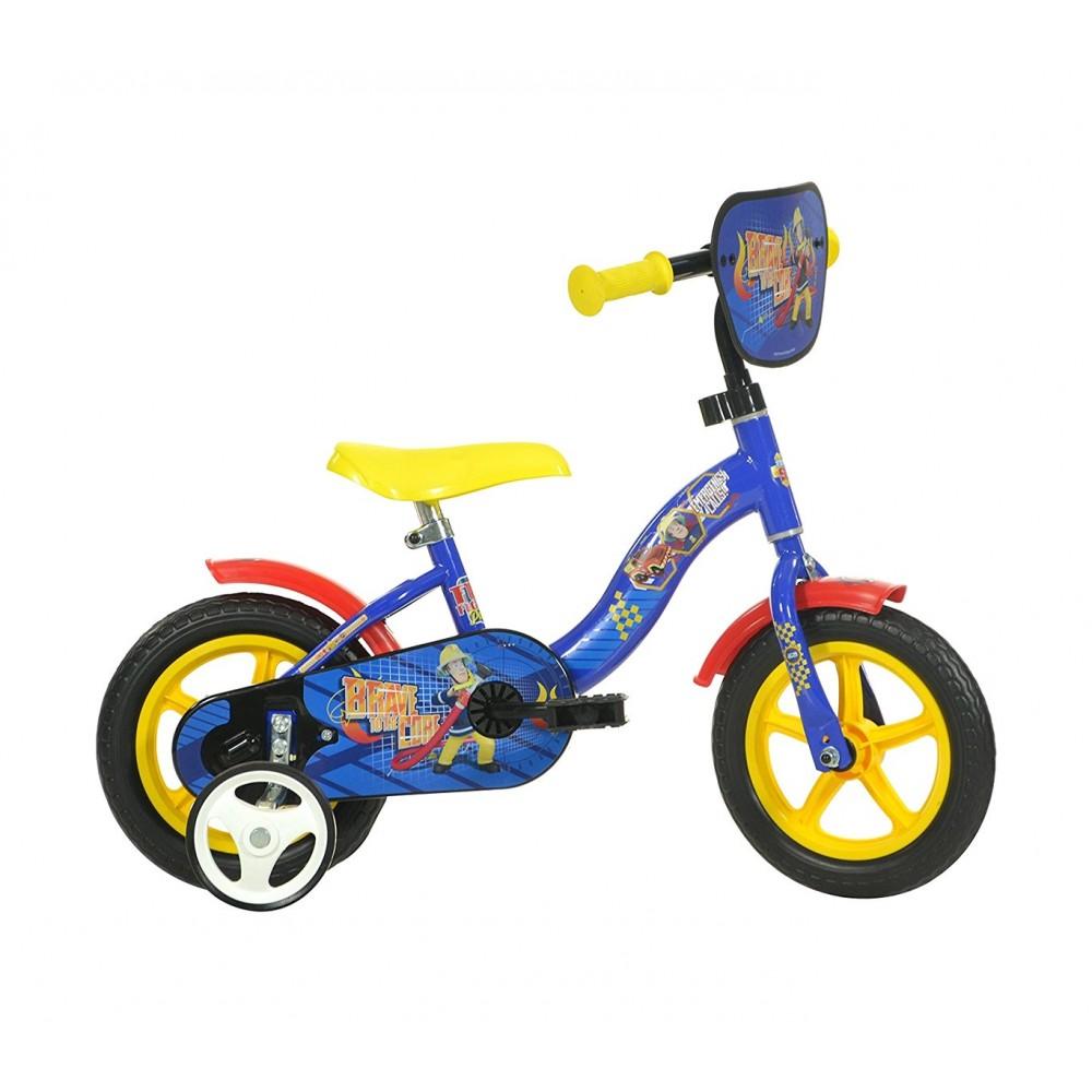 Bicicletta bambino DINO BIKES 108 L-SIP taglia 10 SAM IL POMPIERE età 2-4 anni