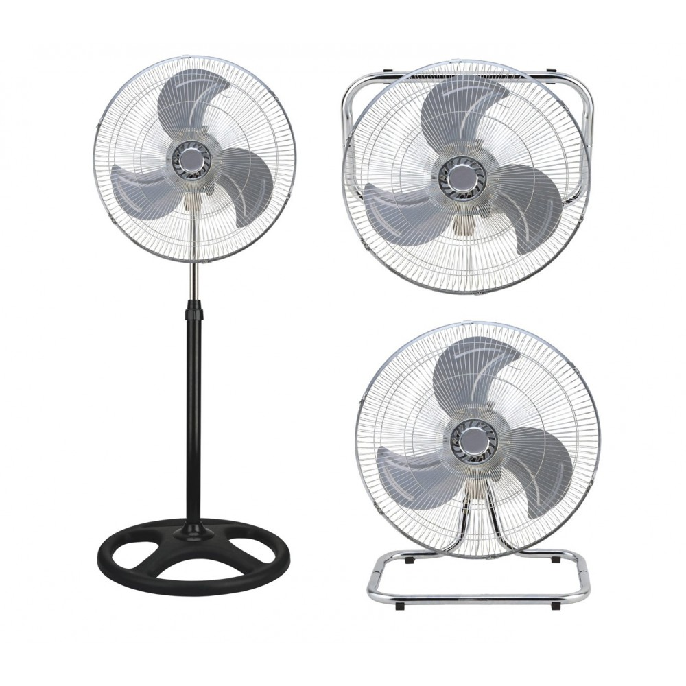 Ventilatore 3 in 1 SDS VIP-45PLUS a colonna, da tavolo e muro pala 45 cm