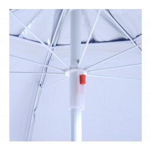Image of Ombrellone e tenda 2 in 1 da spiaggia 265918 con telo parasole a velcro 8435524520031