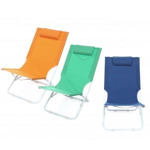 Sdraio pieghevole JOY SUMMER 441030 spiaggina Textilene con cuscino tubo 22