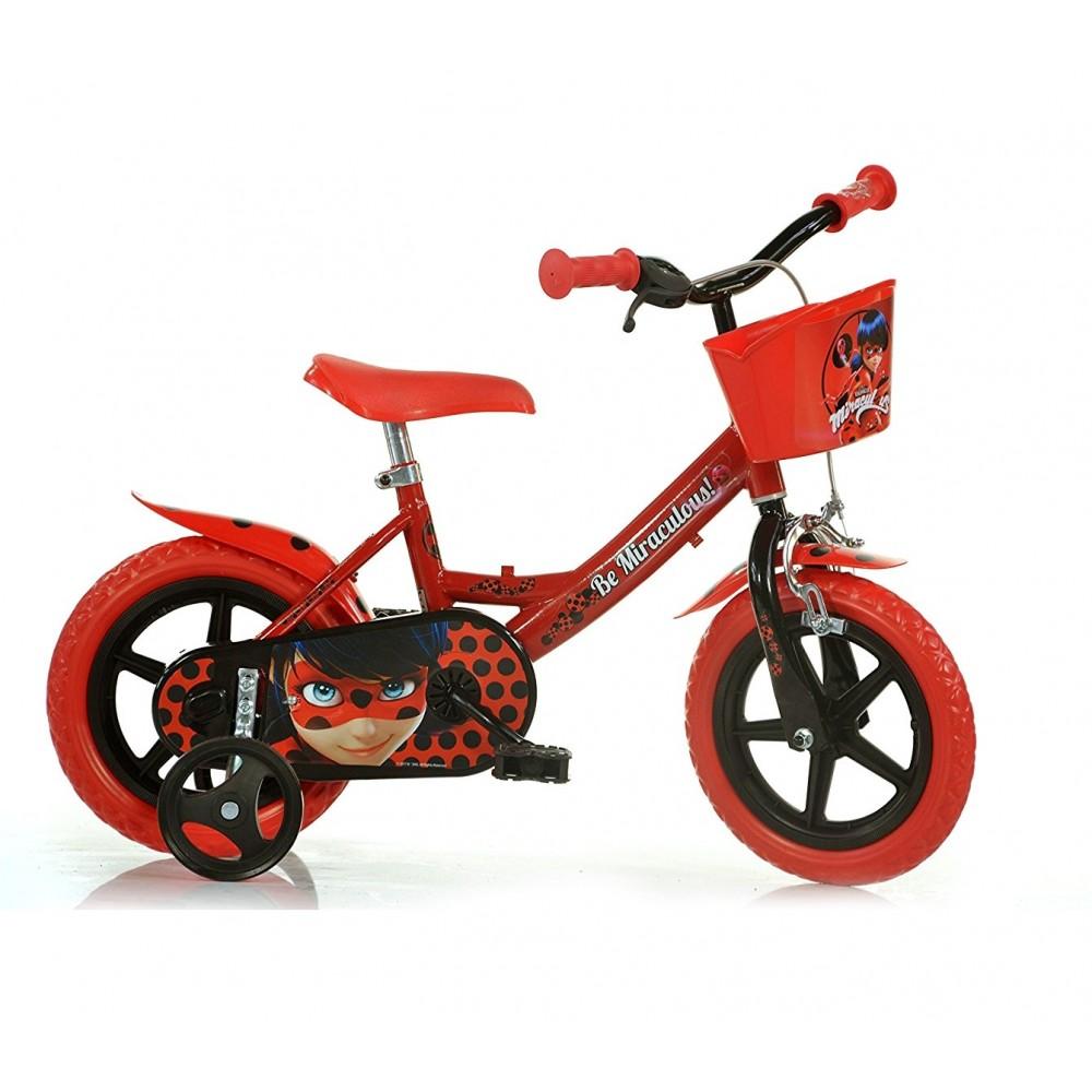 Bicicletta bambino DINO BIKES 124 RL-LB misura 12 MIRACULOUS  bici età 3-5 anni