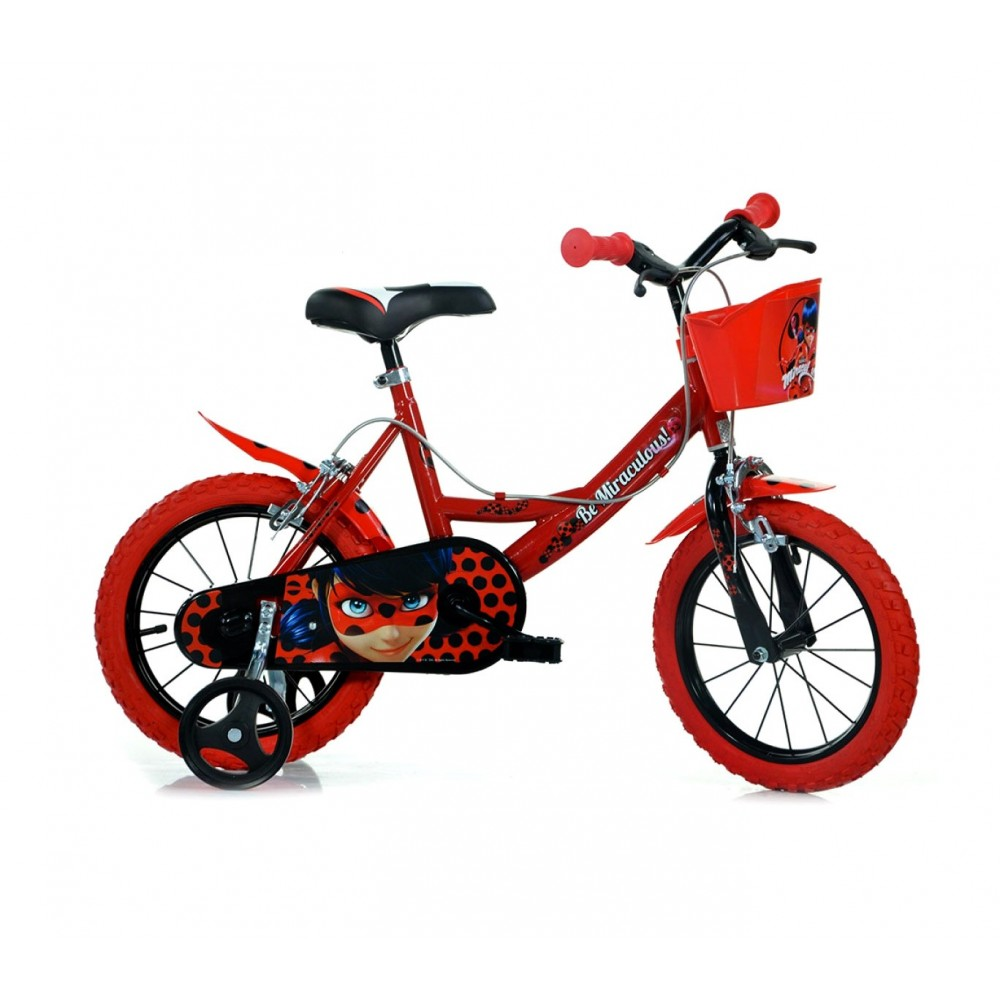 Bicicletta bambino DINO BIKES 144 R-LB misura 14 MIRACULOUS bici età 3-6 anni