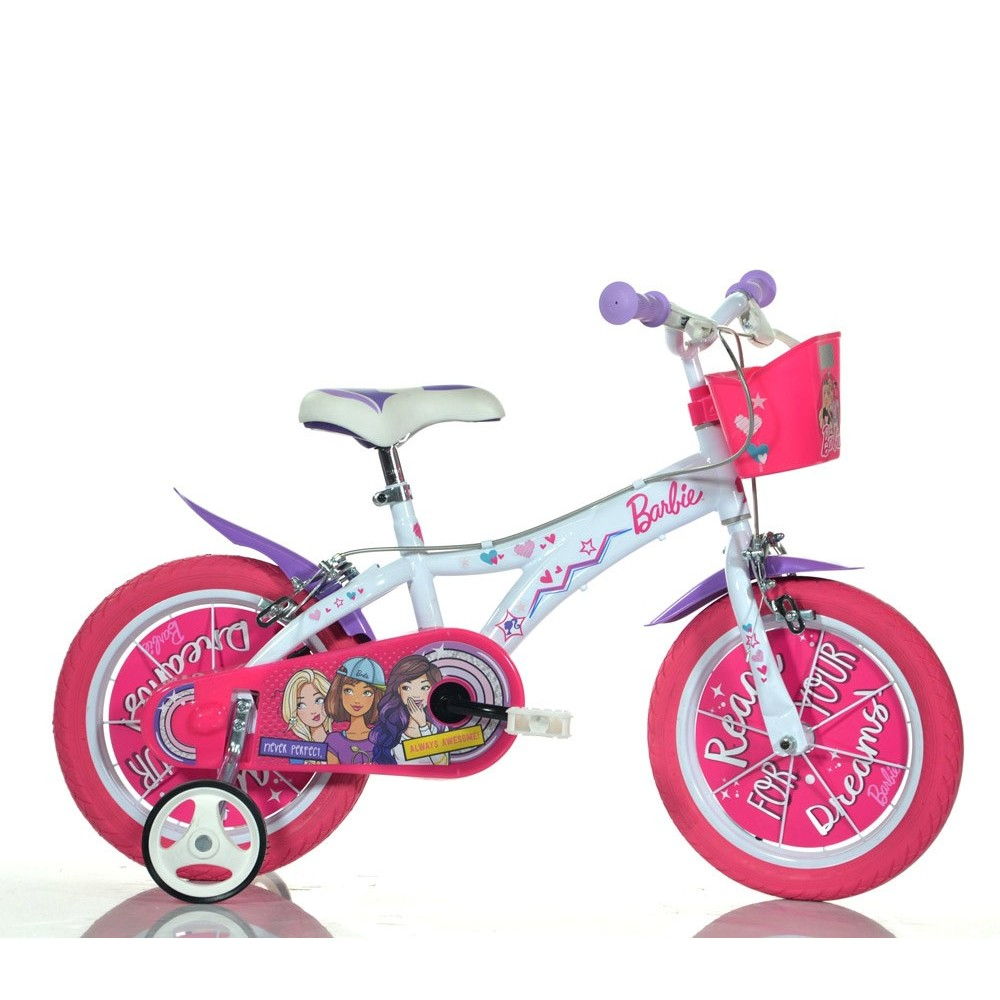 Bicicletta bambina 616 G-BA misura 16'' BARBIE bici età 4- 7 anni