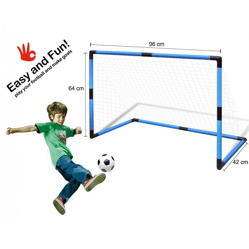 Porta da calcio con telaio in plastica rete e mini ball - Rete porta da calcio ...