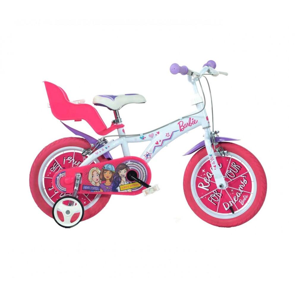 Bicicletta bambina 614 G-BA misura 14'' BARBIE bici età 3- 6 anni