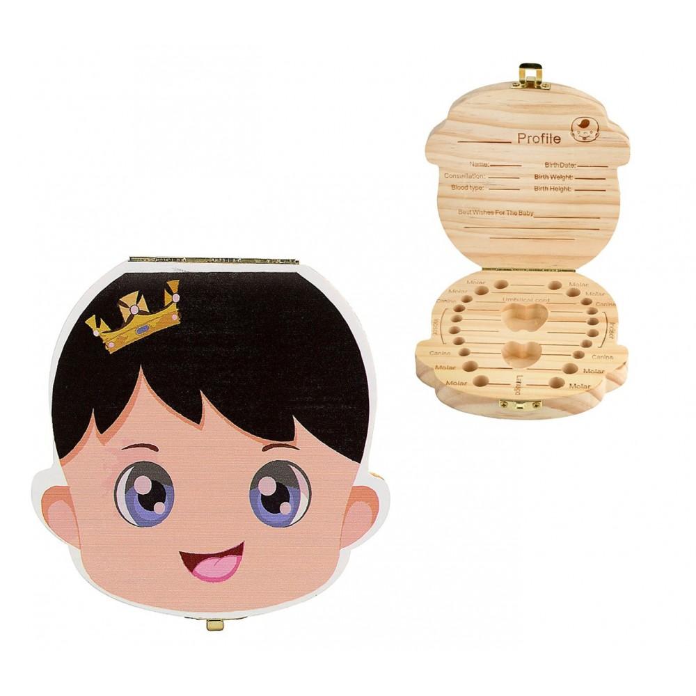 Extension Colorate Per Bambini cofanetto in legno colorati porta dentini da latte bambini