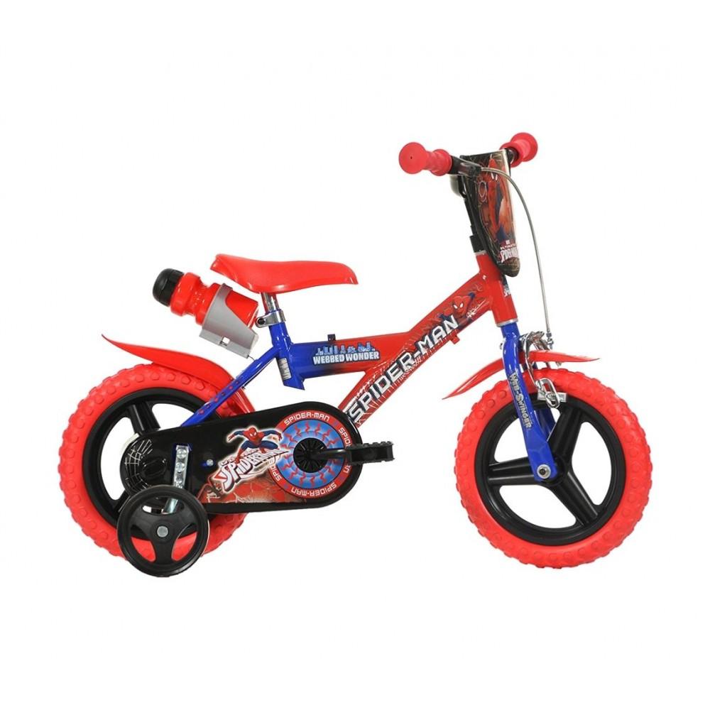 Bicicletta bambino 123 GL-SP misura 12'' SPIDERMAN bici età 3- 5 anni