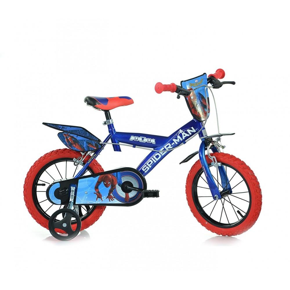 Bicicletta bambino DINO BIKES 143 G-SPH misura 14 SPIDERMAN bici età 3-6 anni