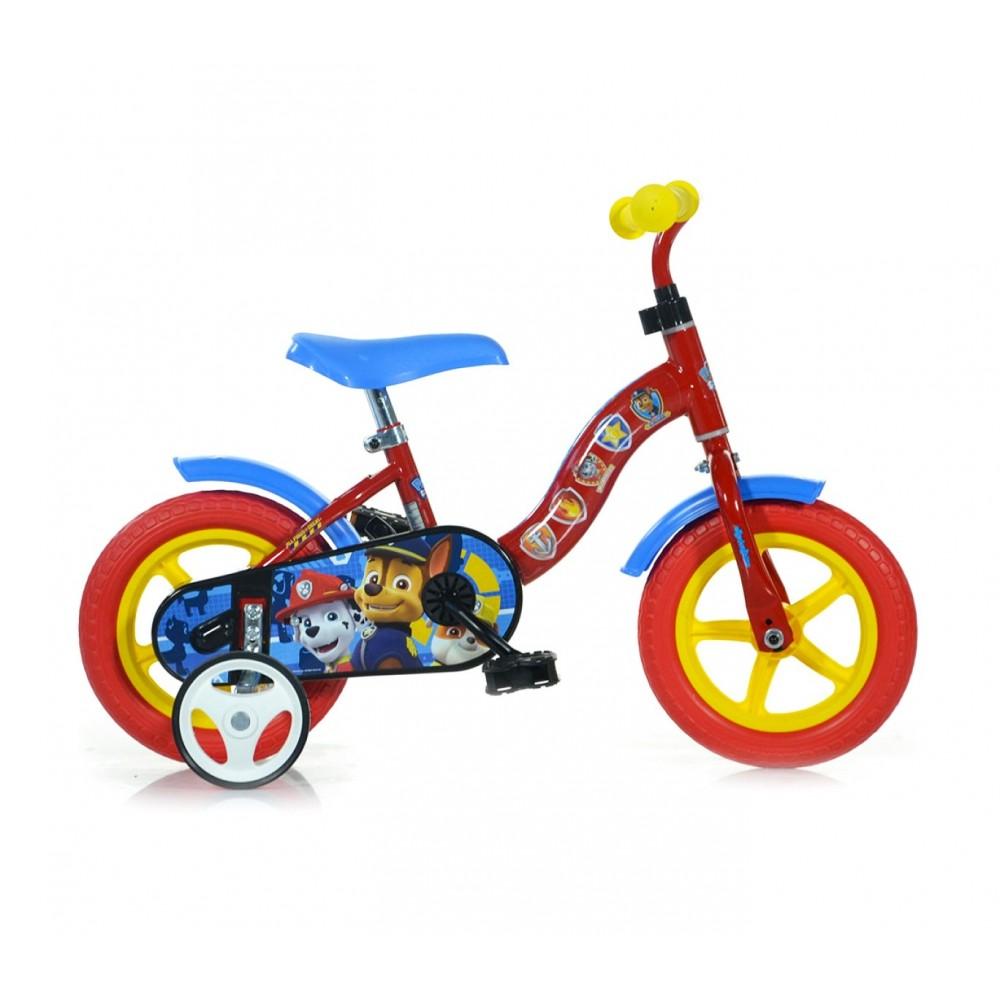 Bicicletta bambino DINO BIKES 108L-PW misura 10'' PAW PATROL bici età 2-4 anni