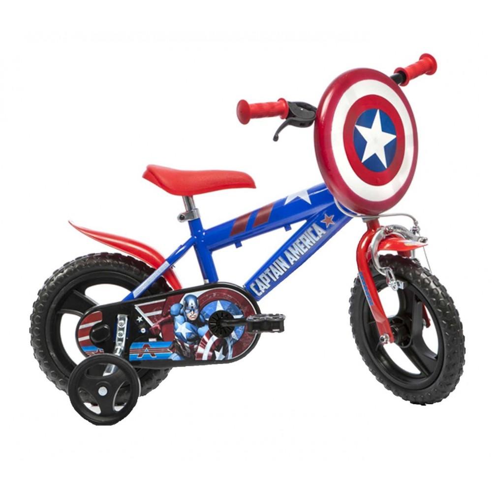 Bicicletta bambino 412 UL-CA misura 12'' CAPITAN AMERICA bici età 3-5 anni