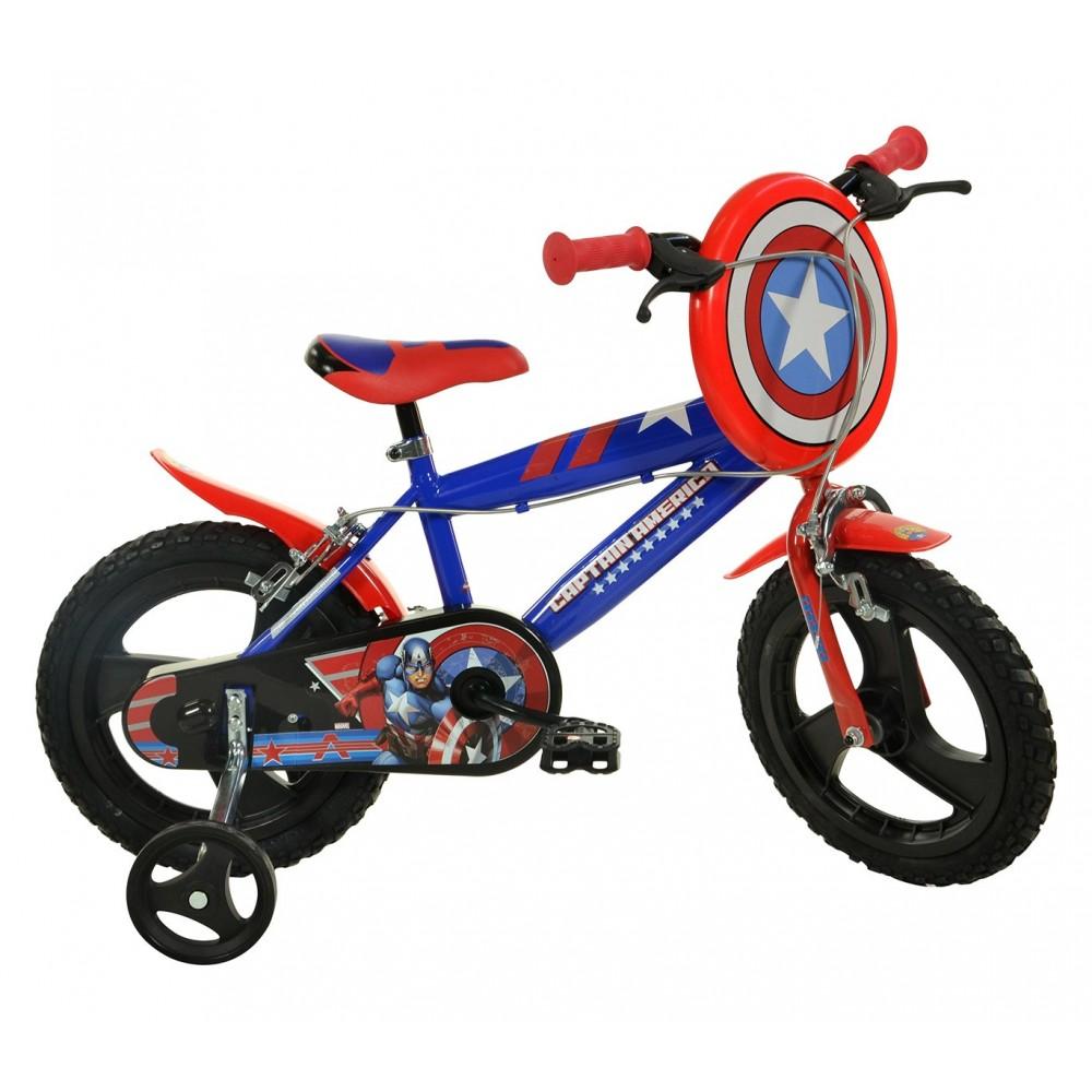 Bicicletta bambino 414 UL-CA misura 14'' CAPITAN AMERICA bici età 3-6 anni