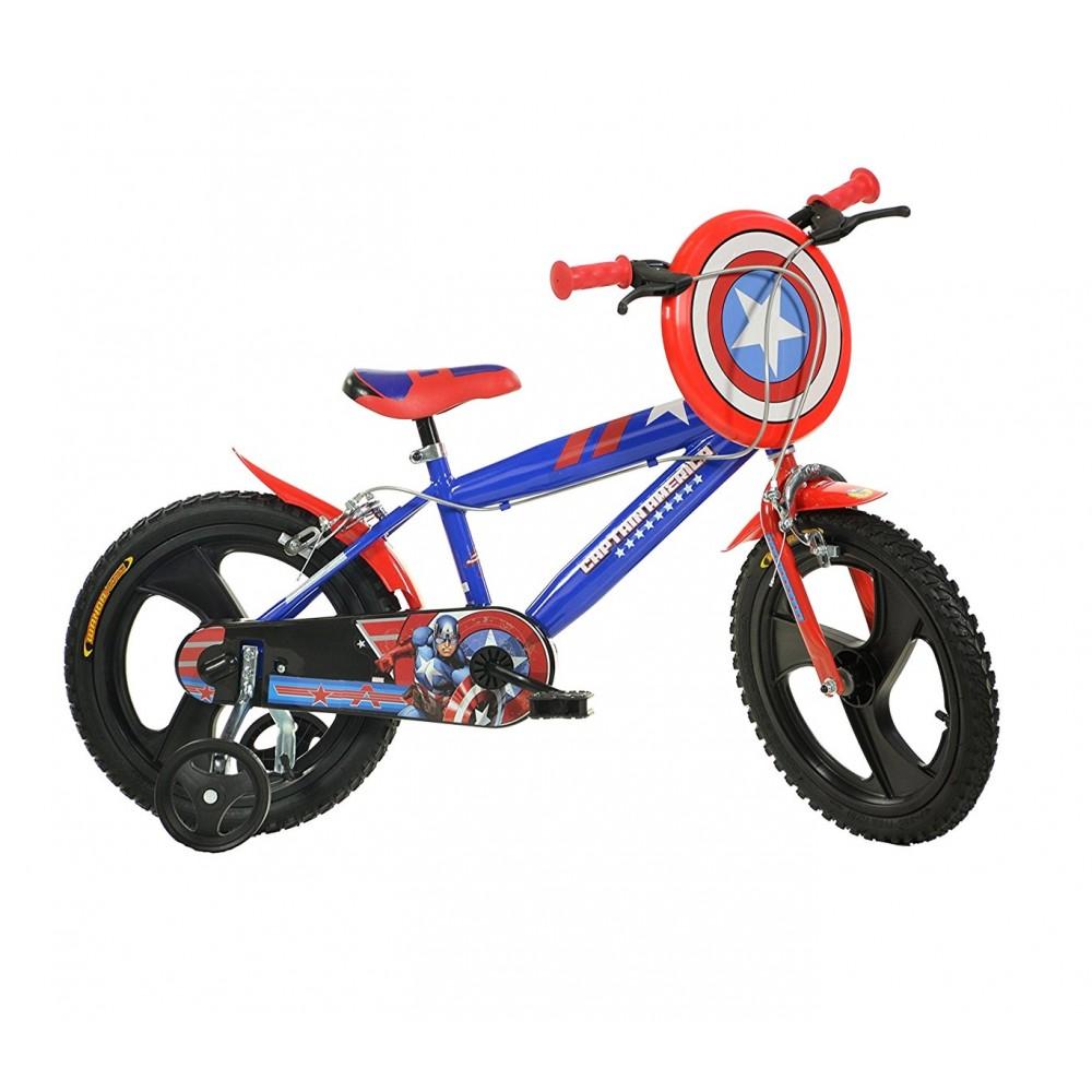 Bicicletta bambino 416 UL-CA misura 16'' CAPITAN AMERICA bici età 4-7 anni