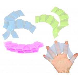 1 paio di guanti di Silicone Swim a pinne per nuotatori in silicone 3 taglie