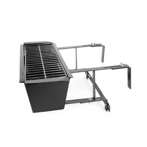 Barbecue universale 10756 da balcone per ringhiere 19x58x38 cm braciere