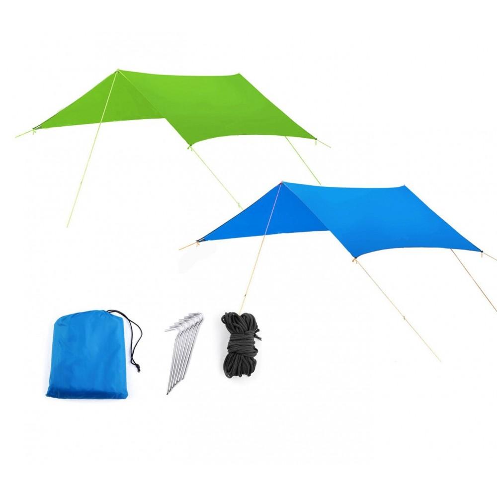 Tenda a sospensione con parasole 10745 per camping con picchetti e tiranti