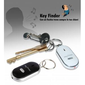 Portachiavi whistle key finder trova chiavi con fischio e luce localizza chiavi ad ultrasuoni