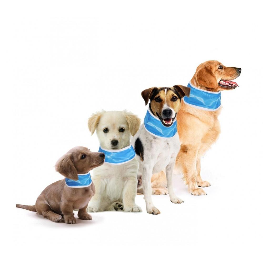 Collare refrigerante per cani in 4 misure temperatura 22-28 °C gel rinfrescante