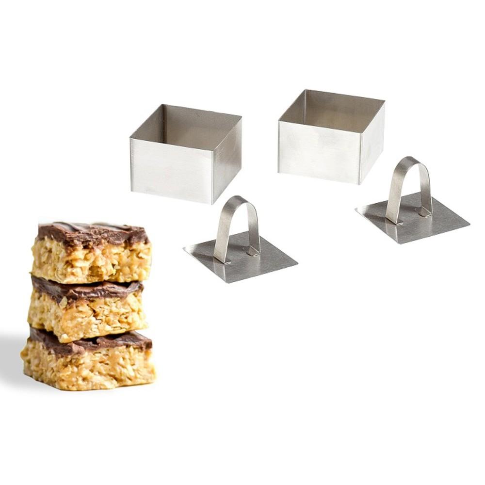 Set 2 Coppa pasta quadrati 594809 per primi piatti e dessert 8x8x4 cm GUSTO CASA