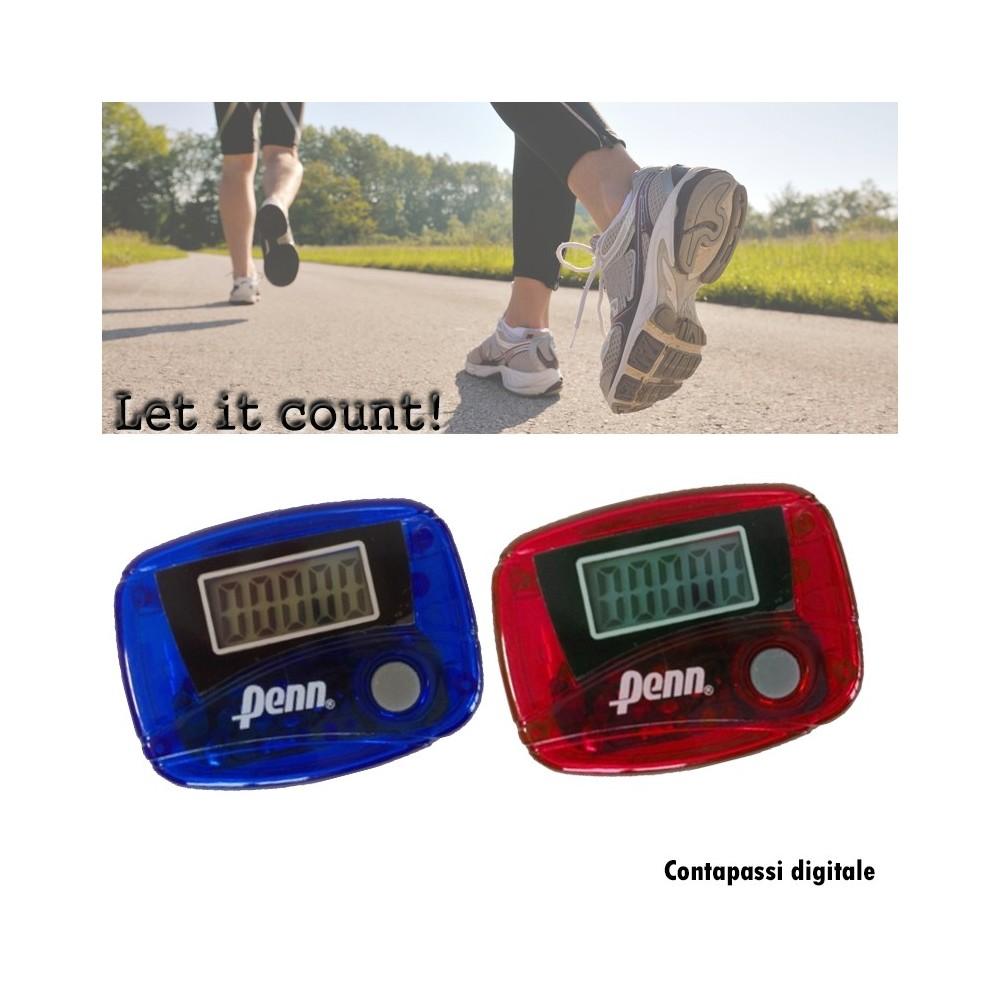 Contapassi digitale con schermo LCD i con gancio per cintura linea Penn