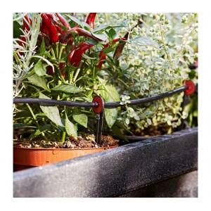 Micro kit per irrigazione con tubo da 23m completo per vaso e terra