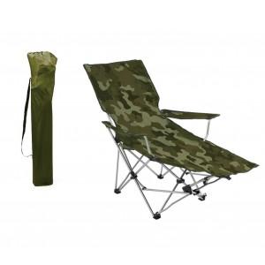 391808 Sedia pieghevole da campeggio e giardino con poggiapiedi