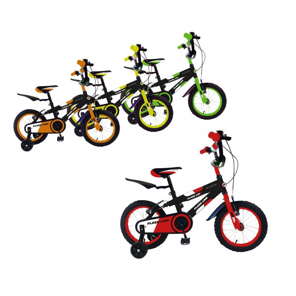 Bicicletta FLASH LINE taglia 14 bici bimbo FLA14 per bambini età 3 - 6 anni