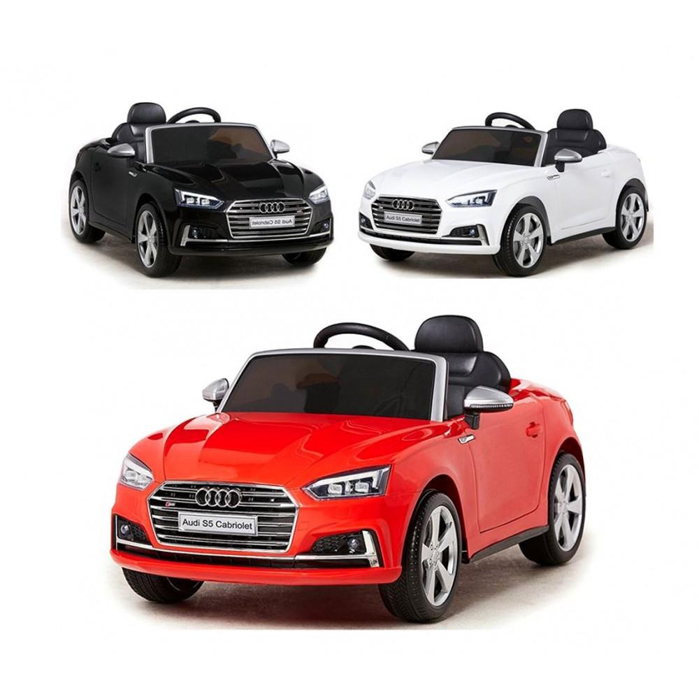 Auto elettrica B81700 per bambini monoposto AUDI S5 telecomando 12V Cabriolet