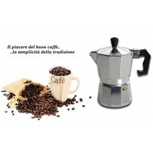 Image of Caffettiera moka 1 tazza classica WELKHOME caffè espresso fatto in casa manico plastica 8027368391931