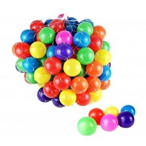 007244 Kit 50 palline colorate da gioco in plastica per bambini e gonfiabili