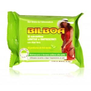 Pack da 10 salviettine Bilboa Lenitive e Ringrescanti per dopo l'abbronzatura
