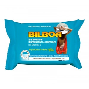 Image of Pack da 10 salviettine Bilboa alla menta rinfrescanti e idratanti dopo sole 8435524525692