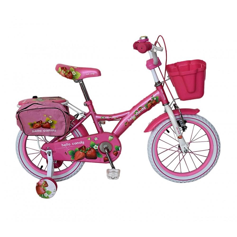 Bicicletta Bambina Misura 16 Hello Candy Fruit Telaio Acciaio
