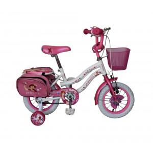 Bicicletta bambina misura 14'' HELLO CANDY PRINCESS telaio acciaio bianca