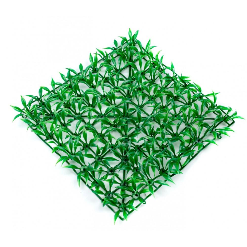 Mattonella in erba sintetica realistica 036392 per giardino 25x25 cm - Erba finta per giardino ...