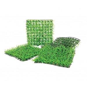 Set di 16 Mattonelle in erba sintetica realistica 036392 per giardino 25x25 cm