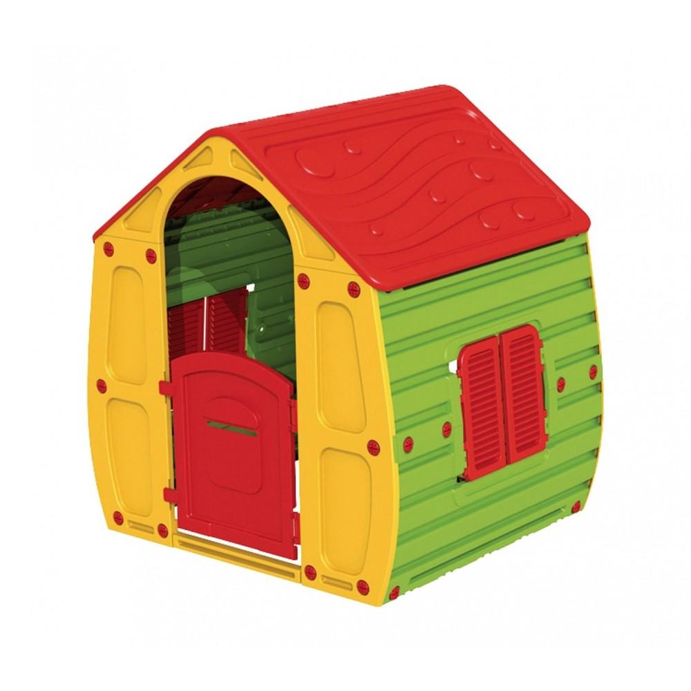 Casetta gioco 264478 Magic House interno esterno 102x90x109 cm con steccato