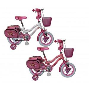 Bicicletta bambina misura 12 PRINCESS telaio acciaio BIANCA età 2 - 5 anni
