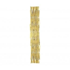 Steccato estensibile in bamboo 377536 giardino recinzione 120x240 cm