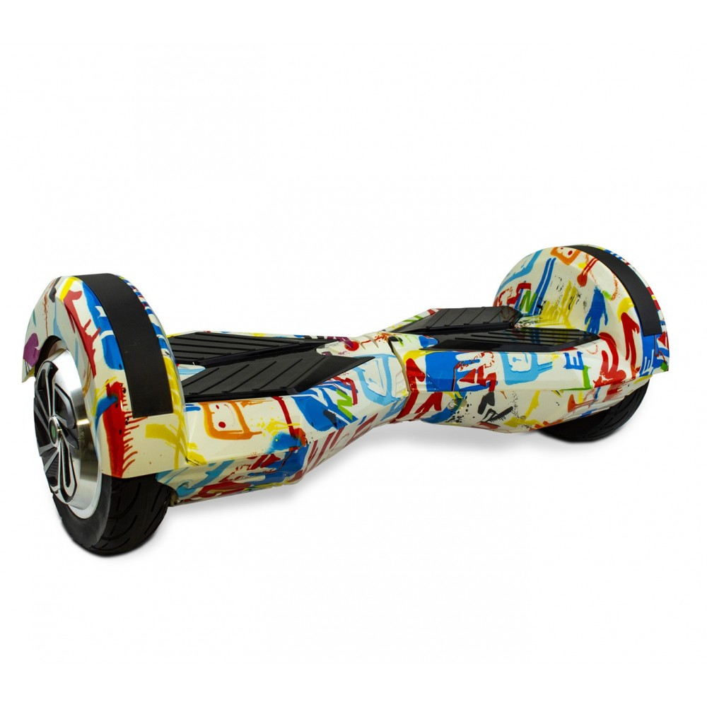 Hoverboard BSCI ruote 8 pollici SMART DRIFTING SCOOTER fantasia Graffiti White