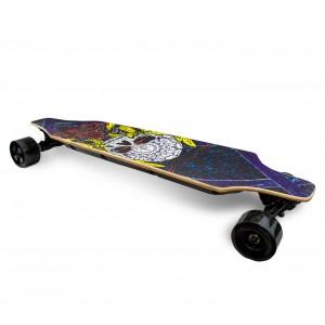 Skateboard 90 cm BSCI elettrico SLAVE con telecomando wireless 15 km/h SKULL