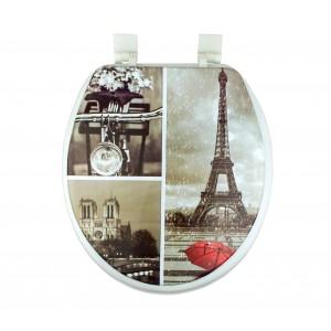 Copri water con sedile universale 132333 seduta morbida coprivaso stampa Parigi