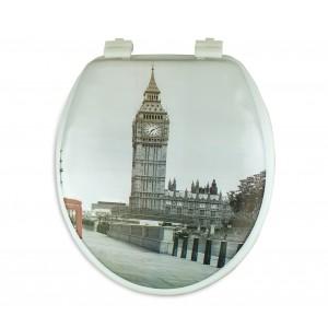 Image of Copri water con sedile universale 132333 seduta morbida stampa LONDRA 8435524529638