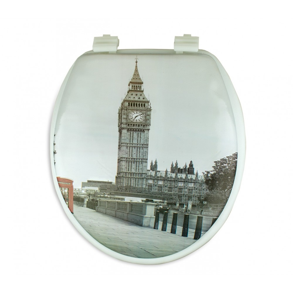 Copri water con sedile universale 132333 seduta morbida stampa LONDRA