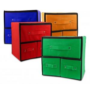 049880 Organizer salvaspazio in TNT con 3 cassetti 30 x 29 x 22 cm