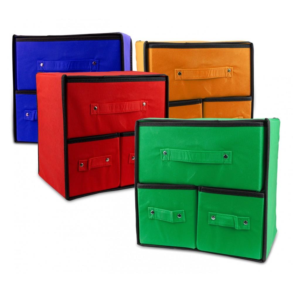 Organizer salvaspazio in TNT con 3 cassetti 049880 WELKHOME 30 x 29 x 22 cm