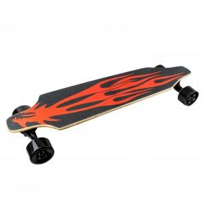 Skateboard 90 cm BSCI elettrico SLAVE telecomando wireless 15 km/h RED DRAGON