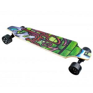 Skateboard 90 cm elettrico SLAVE con telecomando wireless 15 km/h GRAFFITI