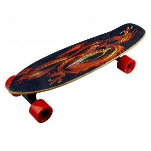Skateboard 70 cm elettrico FUSE con telecomando wireless 15 km/h KING DRAGON