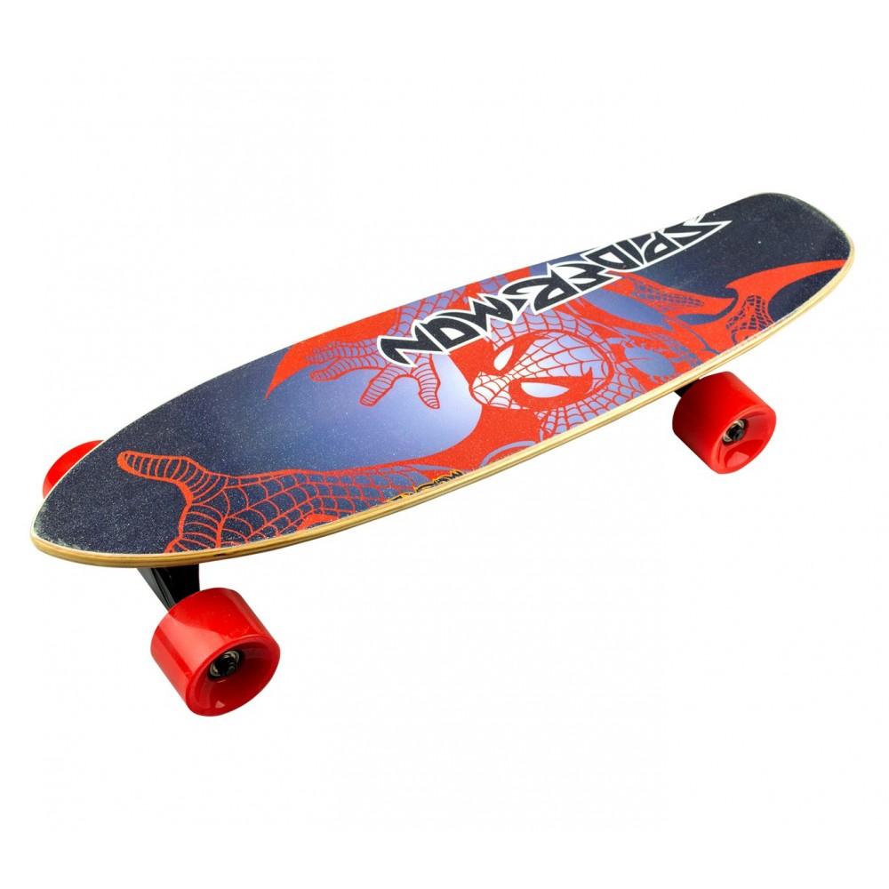 Skateboard 70 cm BSCI elettrico FUSE con telecomando wireless 15 km/h SPIDERMAN
